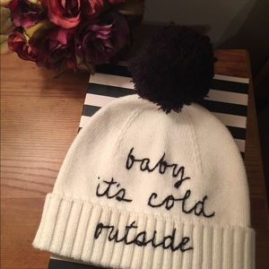 NWT Kate ♠️ Spade 'Baby it's cold outside' Beanie